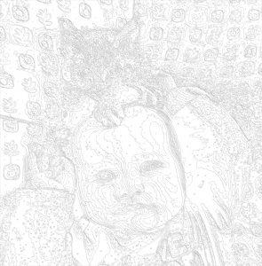 черно-белая схема картины из фото