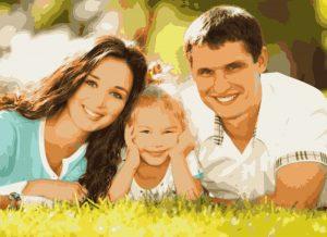 семья на картине по фото