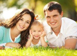 семья на фото