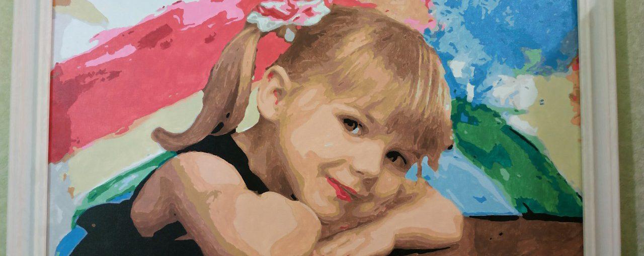 Память на всю жизнь - картины по номерам по фото с детьми