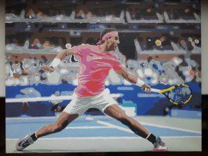 фото по номерам теннисист