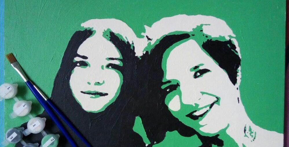 Картина поп-арт по номерам по фото - необычная картина по номерам