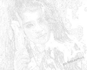 пример холста портрета по номерам со своим фото