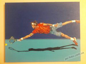 картина по фото теннис