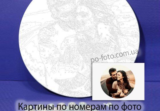 Картины по номерам по фото на круглом холсте